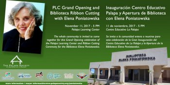 PLC Grand Opening Ribbon Cutting with Elena Poniatowska